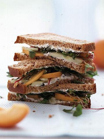 Cucumber and Apricot Sandwiches