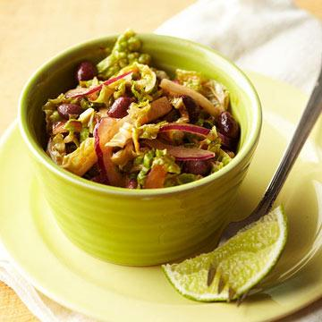 Napa Cabbage and Black Bean Slaw