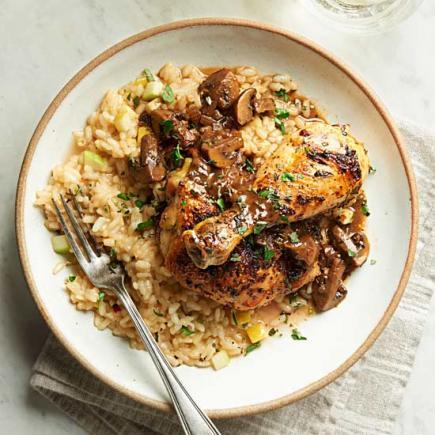 Roast Chicken and Mushroom Jus