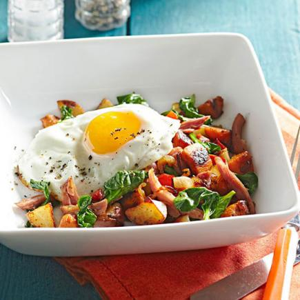 Smoked Turkey and Sweet Potato Hash