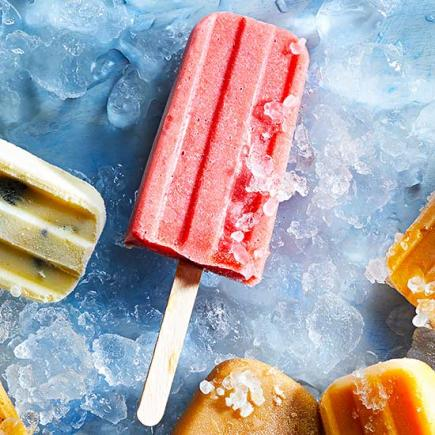 Strawberry Buttermilk Pops
