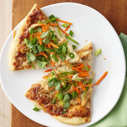 Spicy Chicken-Peanut Thai Pizza