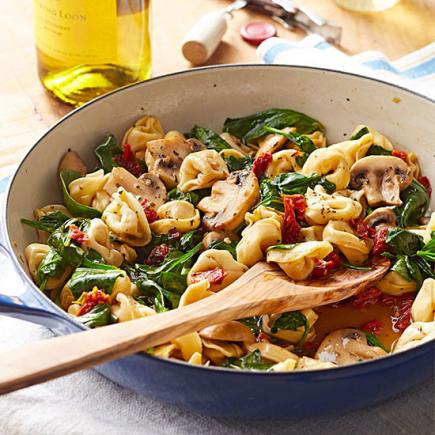 45 easy summer dinner recipes midwest living summer recipes quick and easy recipes tortellini spinach and mushrooms in wine butter sauce forumfinder Image collections