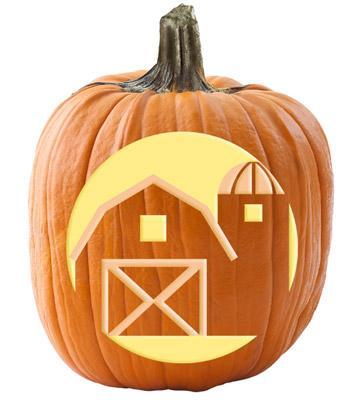 10 midwest pumpkin stencils midwest living for Fall pumpkin stencils