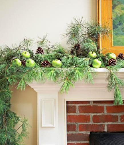 natural simplicity - Christmas Mantel Decorating Ideas