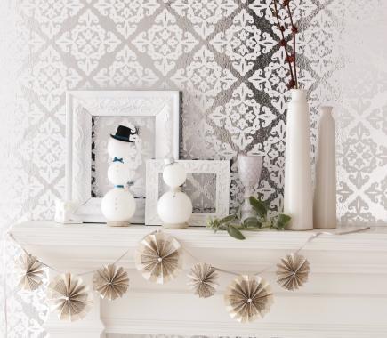 winter wonderland - Mantel Decorating