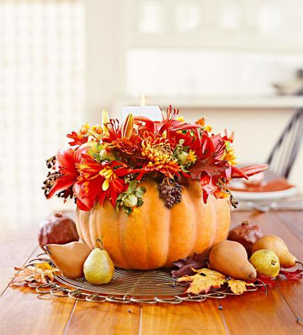 35 ideas for easy thanksgiving decorating midwest living for How to decorate a pumpkin for thanksgiving