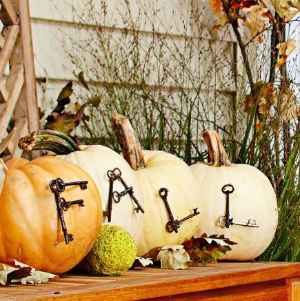 Keyed pumpkins & 50 Pumpkin Decorating Projects | Midwest Living