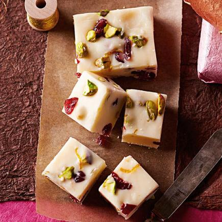 White Chocolate Christmas Fudge