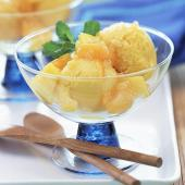Quick and Easy Dessert Recipes—Ginger Fruit with Pineapple Sherbet