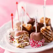 Chocolate-dipped caramels