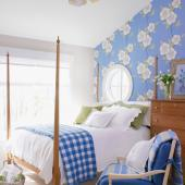 Farm-style floral bedroom