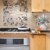 Tile Backsplash Over Stove. Framed Limestone Design Over Stove With on tile backsplash mural, tile fireplace backsplash, tile paint backsplash, tile counter backsplash, tile sink backsplash, tile vanity backsplash, tile brick backsplash, tile granite countertops backsplash, glass subway tile backsplash, tile accessories backsplash, tile bathroom backsplash, tile stove backsplash,