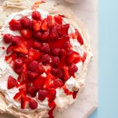 Pistachio Pavlova with Fresh Berries