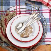 Enamel dishes