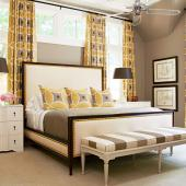 Pattern mix bedroom
