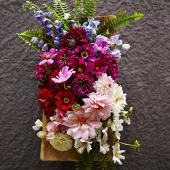 Artfully ombre flower arrangement