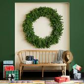 Study in contrasts wreath
