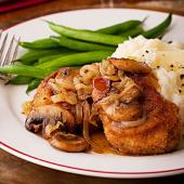 Pork Tenderloin with Mushrooms and Onions