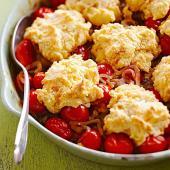 Cheddar Tomato Cobbler