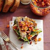 Crispy Cauliflower Steak Sandwiches