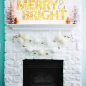 Merry and bright marquee