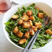 Arugula Salad with Brioche Croutons