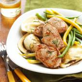 Balsamic Pork with Potato Pierogi