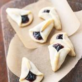 Lemon Blueberry Fan Cookies