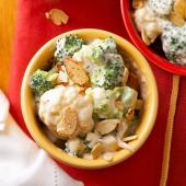 Cauliflower and Broccoli in Swiss Cheese Sauce