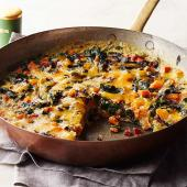 Chard and Sweet Potato Frittata