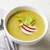 Curried Celery Soup with Pear