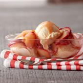 Easy Gingery Apple Sundaes