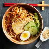 Fusion Bowl with Tofu and Soft-Cooked Egg