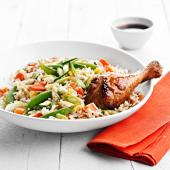 Gingered Chicken and Fried Rice