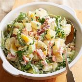 Greens, Eggs and Ham Potato Salad