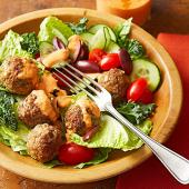 Herbed Lamb Meatball Salad