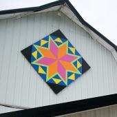 Italian Tile barn quilt, Green County, Wisconsin