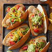 Mexican Chicken Meatball Subs