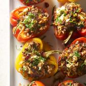 Middle Eastern Stuffed Peppers