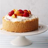 Mini Peach Melba Ice Cream Cake