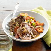 Garlic Pork and Sweet Potato Hash