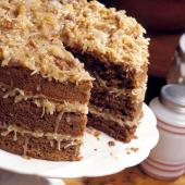 Triple-Tiered German Chocolate Cake