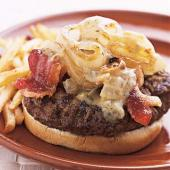 Burgers with Blue Cheese and Vidalia Onions