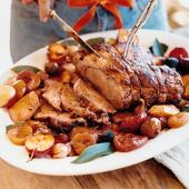 Pork and Apricots with Mashed Sweet Potatoes