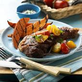 Peppery Grilled Steak with Summer Tomatoes