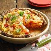 Inside-Out Spaghetti Pie