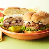 Cranberry-Stuffed Chicken Burgers
