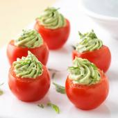 Avocado Pesto-Stuffed Tomatoes