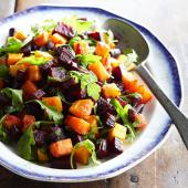 Oven-Roasted Squash and Beets with Arugula